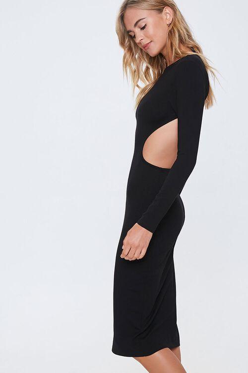 Open-Back Bodycon Midi Dress, image 2