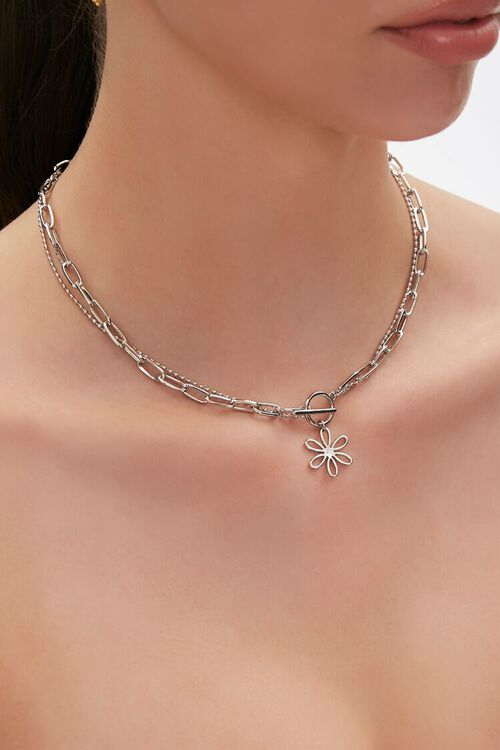 Floral Charm Layered Necklace, image 1