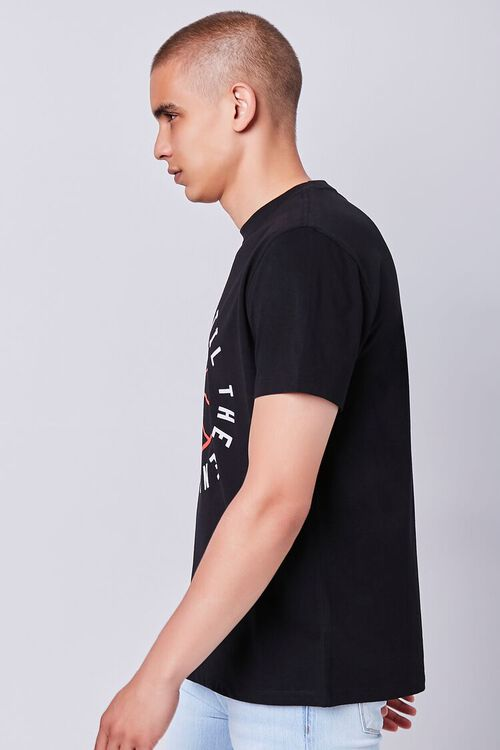 BLACK/RED Organically Grown Cotton Graphic Tee, image 2
