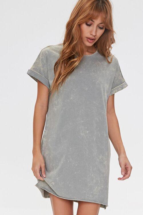 Oil Wash T-Shirt Dress, image 1