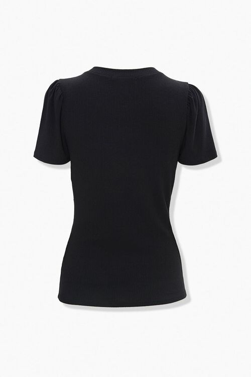 Vented Ribbed Knit Tee, image 2