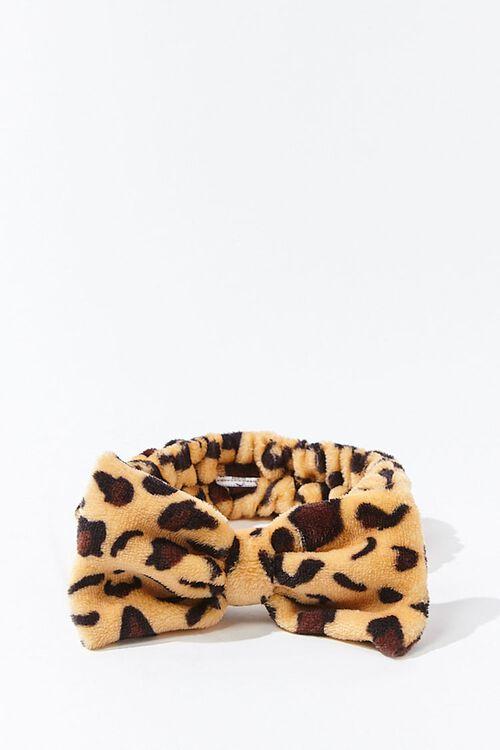 Leopard Print Bow Headwrap, image 1