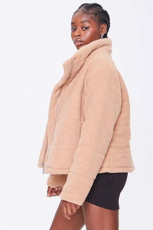 Faux Shearling Zip-Up Coat, image 2