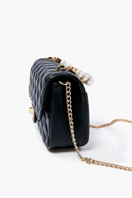 Quilted Faux Pearl Crossbody Bag, image 2