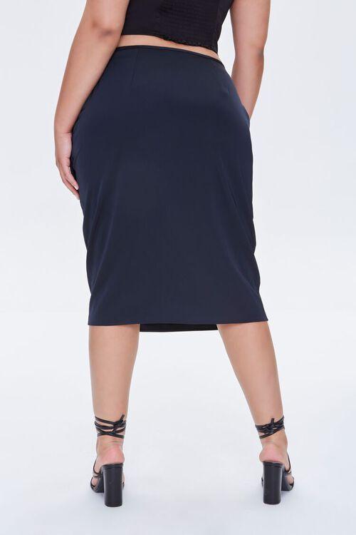 Plus Size Ruched Tulip-Hem Skirt, image 4