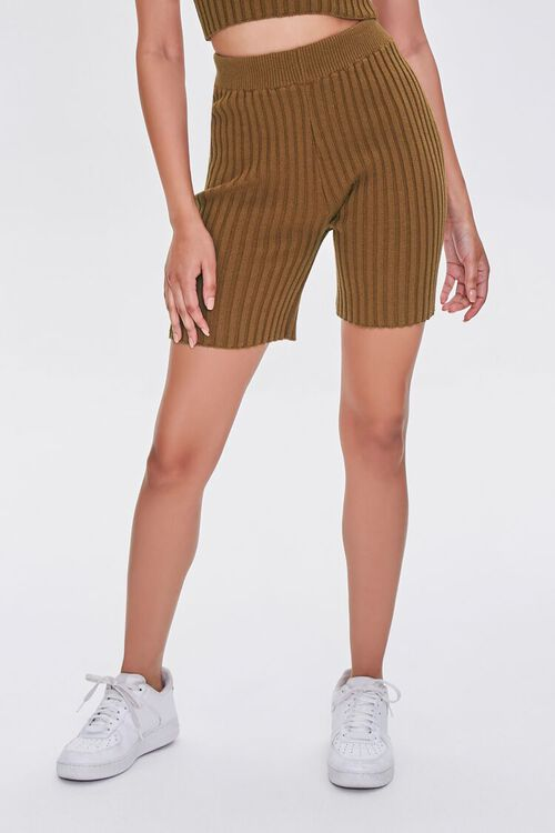 Ribbed Knit Bermuda Shorts, image 2