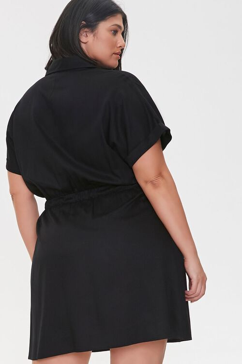 Plus Size Tie-Waist Shirt Dress, image 3