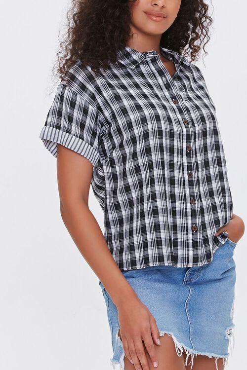 Cuffed Plaid Shirt, image 1