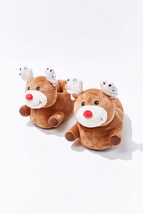 Plush Reindeer Indoor Slippers, image 1