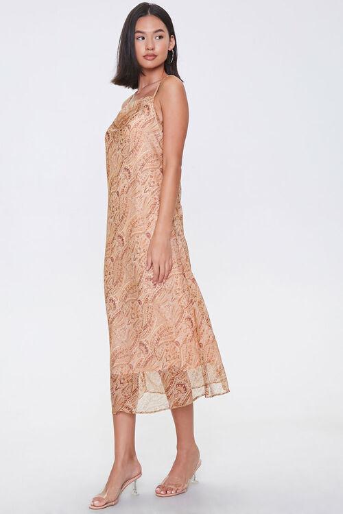 Chiffon Ornate Print Midi Dress, image 2