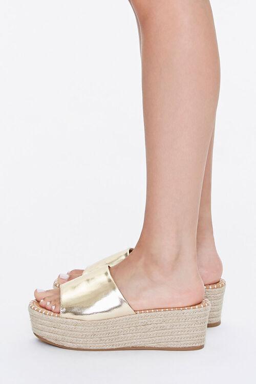 Metallic Espadrille Platform Sandals, image 2