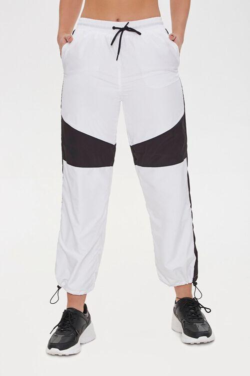 BLACK/WHITE Colorblock Windbreaker Pants, image 2