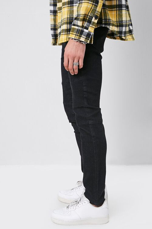 Skinny Zippered Moto Jeans, image 2