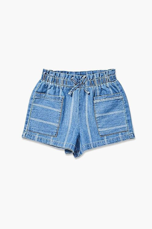 Girls Striped Denim Shorts (Kids), image 1