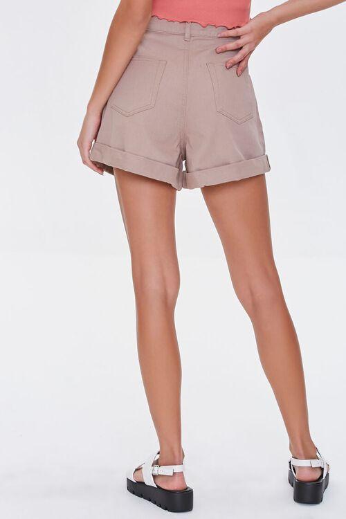Cuffed Denim Shorts, image 4