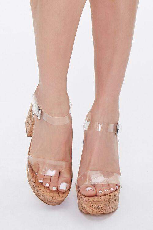 Translucent Platform Block Heels, image 3