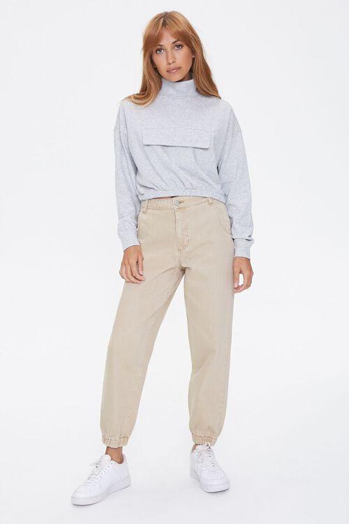 Heathered Turtleneck Pullover, image 4