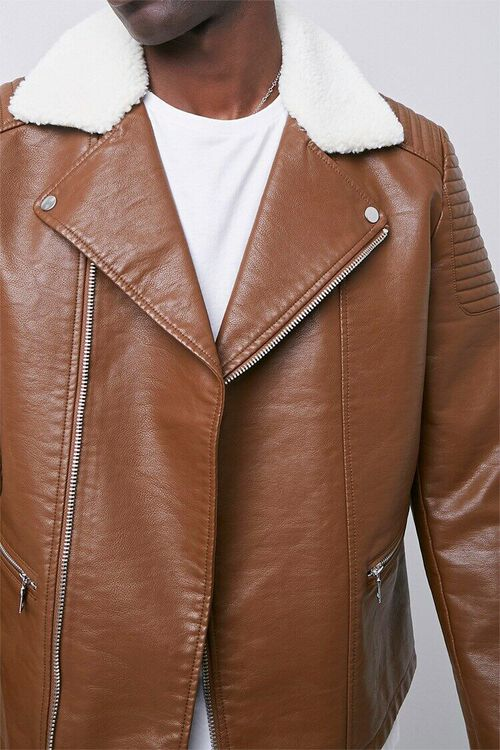 Faux Leather Moto Jacket, image 5