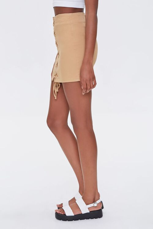Lace-Up Mini Skirt, image 3