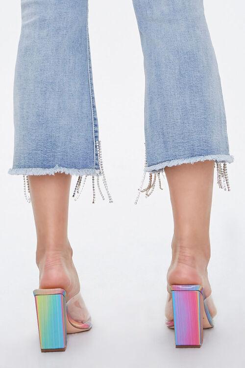Iridescent Vinyl Slip-On Heels, image 4