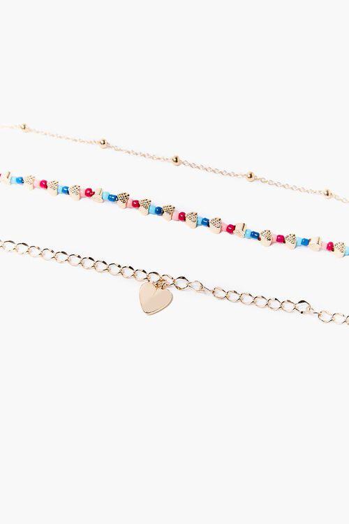 Heart Charm Bracelet Set, image 1