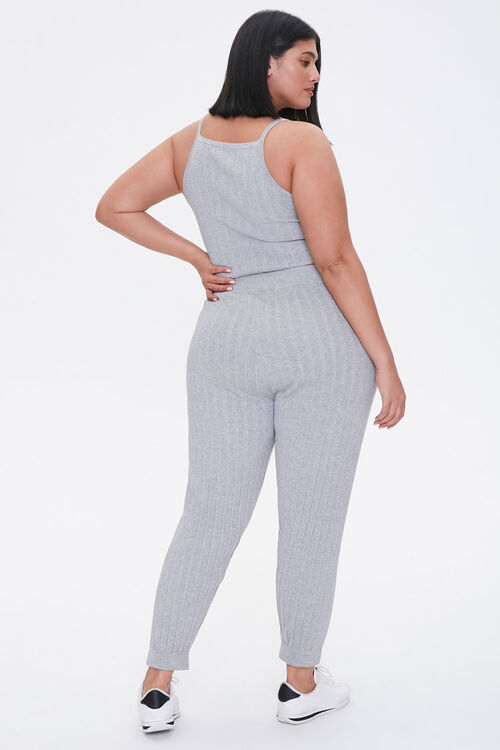 Plus Size Cropped Cami & Ankle Pants Set, image 3