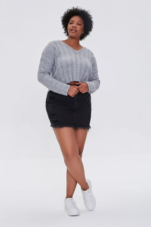 Plus Size Ribbed Drop-Sleeve Sweater, image 4