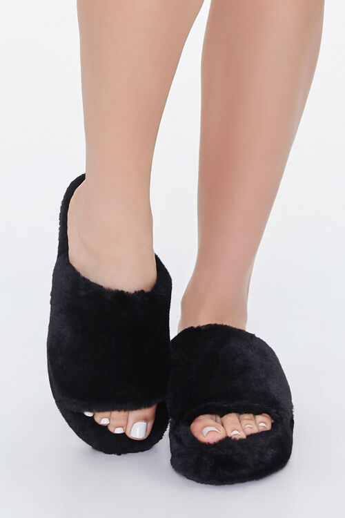 Faux Fur Platform Slippers, image 4