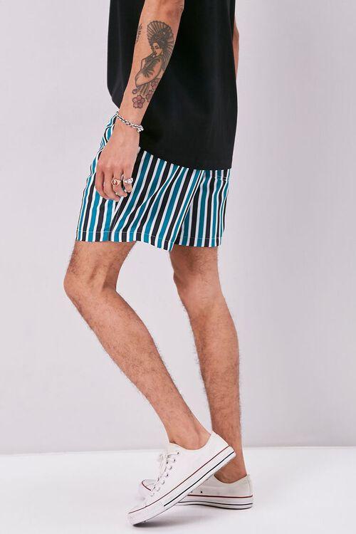 Striped Print Swim Trunks, image 3