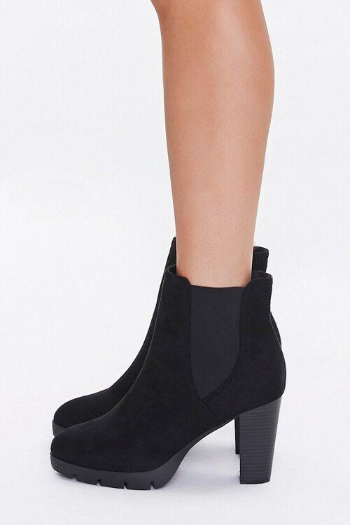 Faux Suede Block Heel Chelsea Boots, image 2