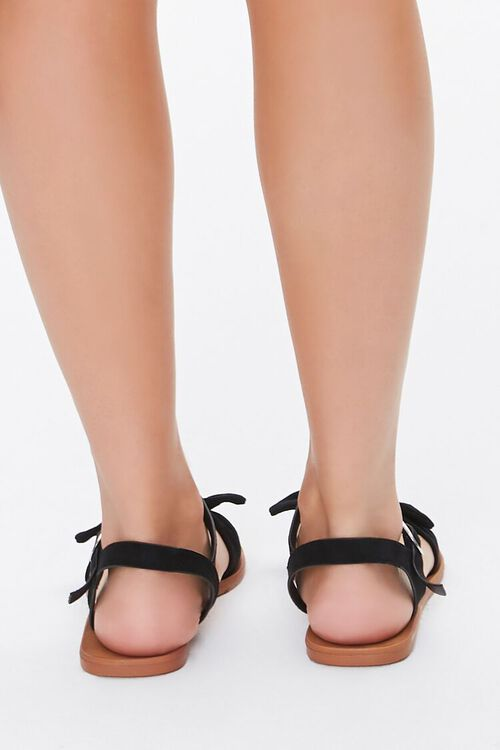 Faux Suede Knotted Sandals, image 4