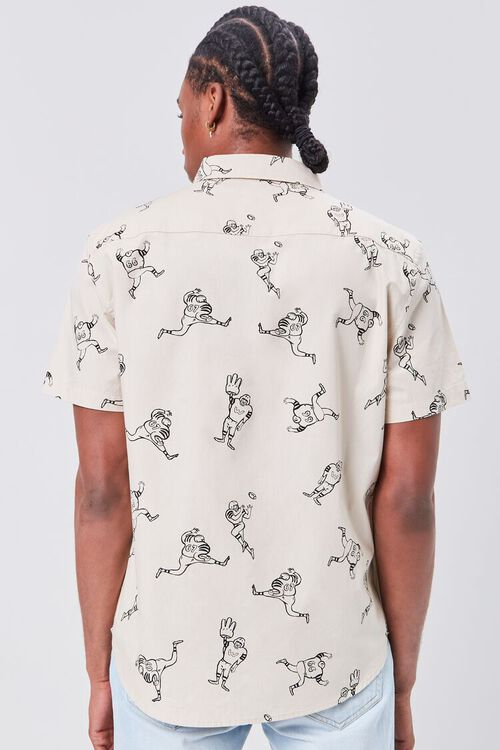 Football Player Print Fitted Shirt, image 3