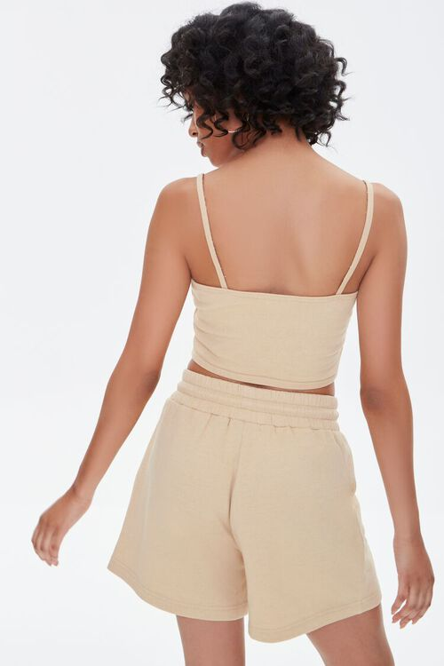 Cropped Cami & French Terry Shorts Set, image 3