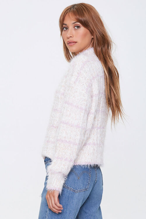 Striped Fuzzy Knit Sweater, image 2