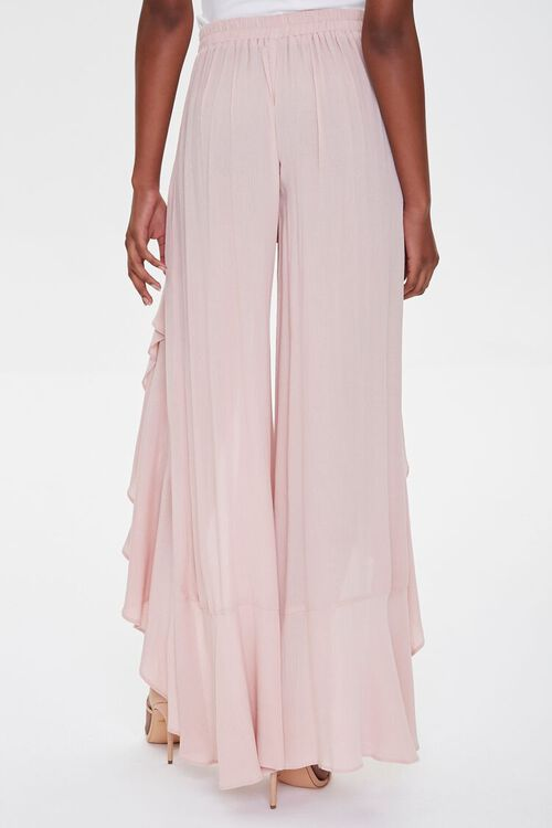 Crinkled Wrap-Front Ruffle-Trim Pants, image 4