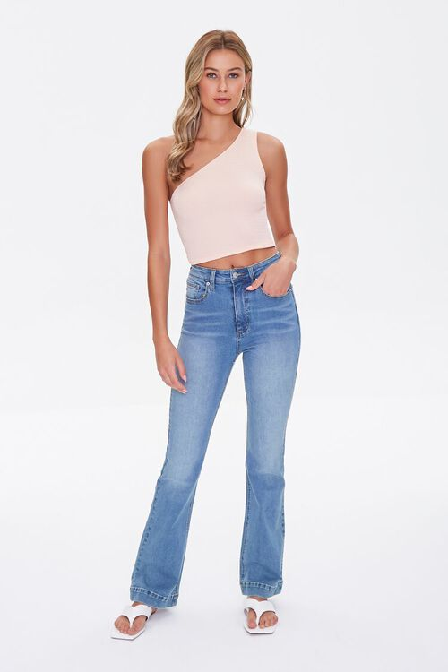PEACH  Textured One-Shoulder Top, image 4