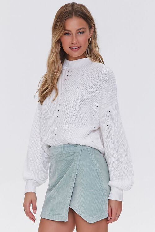 PISTACHIO Corduroy Mini Skirt, image 1