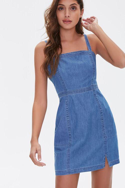 Chambray Mini Dress, image 1