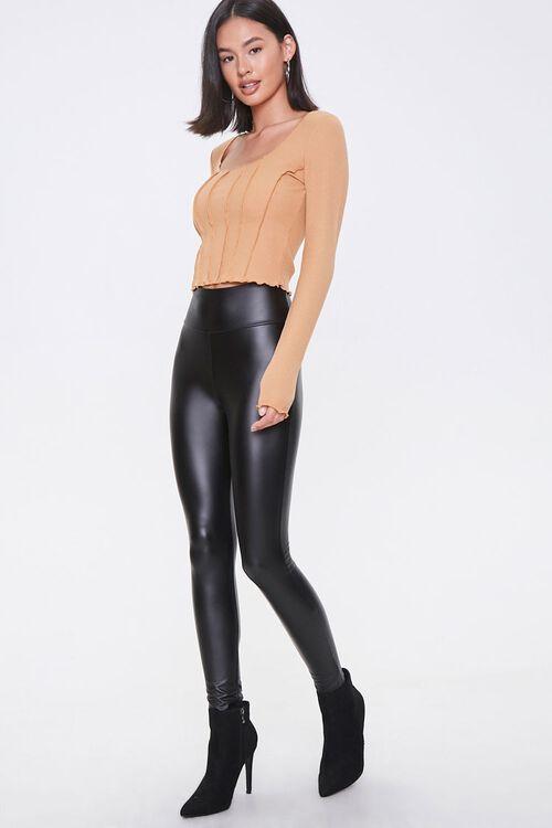Faux Leather High-Rise Leggings, image 1