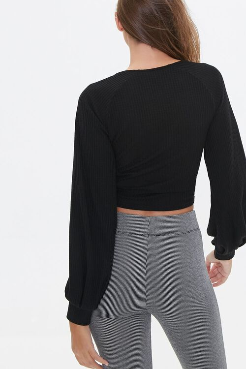 Ruched Drawstring Crop Top, image 3