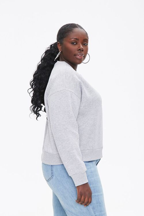 Plus Size Fleece Drop-Sleeve Pullover, image 2