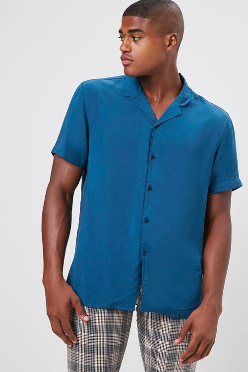 Classic-Fit Cuban Collar Shirt, image 1