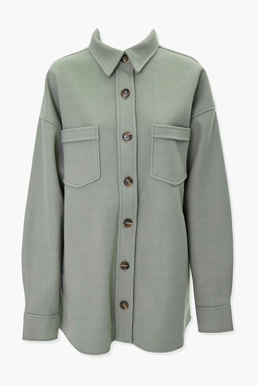 Drop-Shoulder Button-Front Shacket, image 1