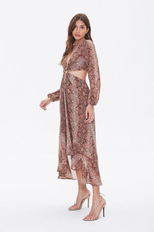 Snakeskin Print Cutout Dress, image 2