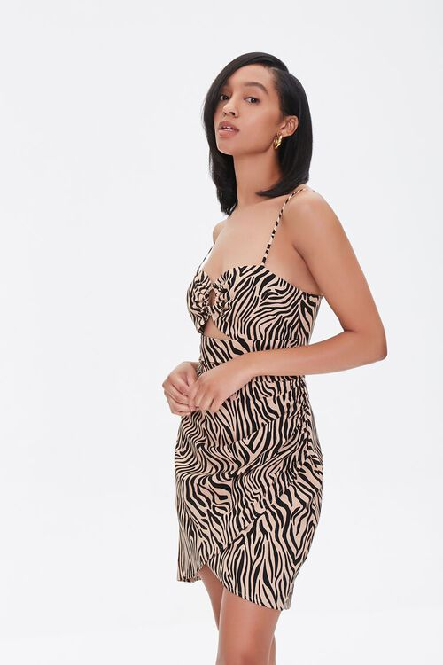 Tiger Print Mini Dress, image 1