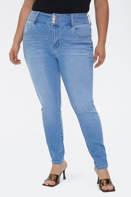 Plus Size Recycled Curvy-Fit Jeans, image 2