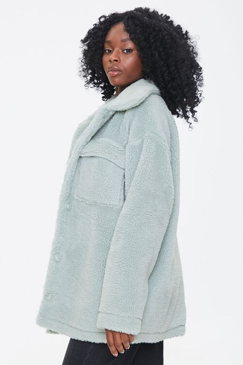 Faux Shearling Button-Front Jacket, image 2