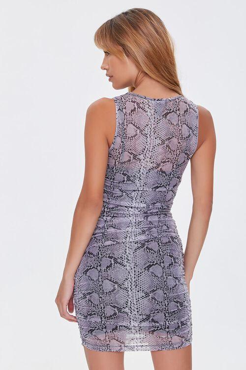 GREY/MULTI Snake Print Mini Dress, image 3