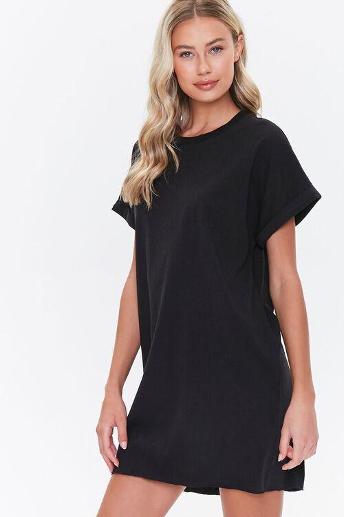Cuffed T-Shirt Dress, image 1