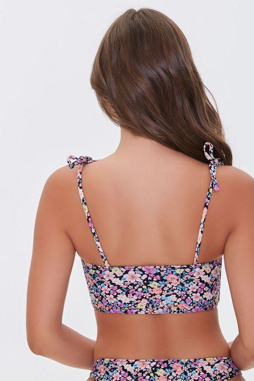 Floral Print Self-Tie Bralette Bikini Top, image 4